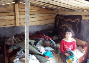 Improvizovana romska kuća u Novom Travniku